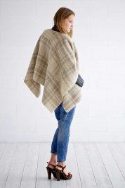 Tartan-light-olive-wool-poncho-2
