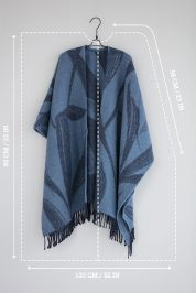 Blue Sea Weeds – Wool Poncho